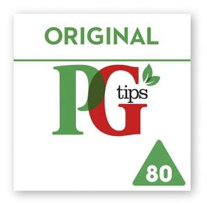 Free PG Tips 80 Original Tea Bags (coupon) to redeem at supermarkets - 100,000 available @ PG Tips