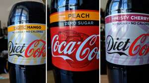 Diet Coke Feisty Cherry, Exotic Mango and Peach 59p at Poundstretcher