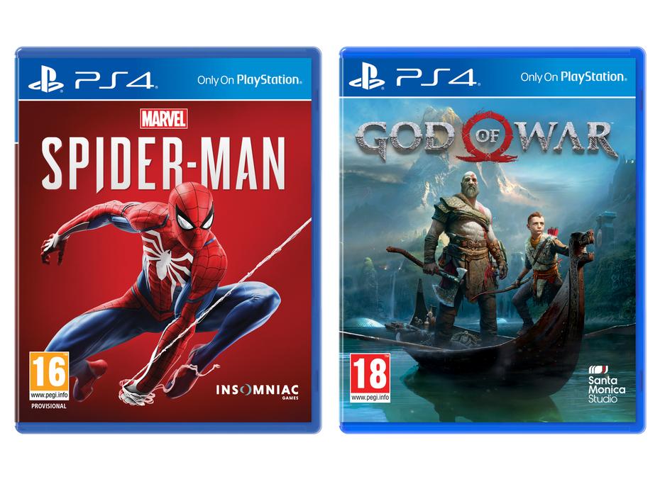 PS4 Spider-Man - £21.99 / God of War - £21.99 @ Sainsburys