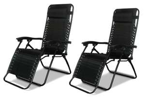 2 x DNY© Textoline Reclining Garden Chair Beach Sun Lounger Recliner Chairs - £38.96 Dispatched from and sold by Denny Shop @ Amazon