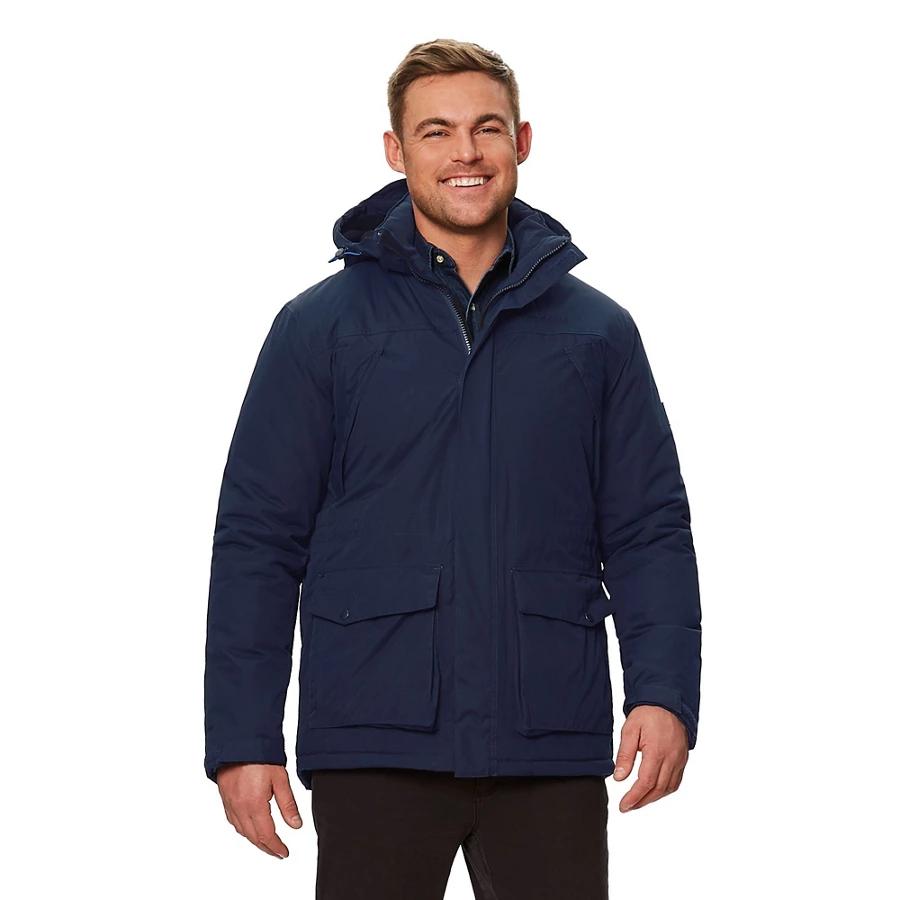 Regatta - Blue 'Perran' insulated hooded waterproof jacket - £30 + free CC at Debenhams