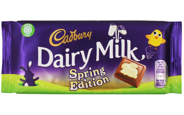 INSTORE 100g Cadbury Dairy Milk Spring Edition 25p @Tesco