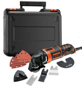 BLACK+DECKER 300W Oscillating Multi Tool & 12 Accessories + Kit Box - £35.75 @ Homebase