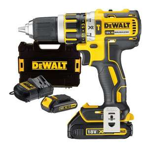 Dewalt DCD795D1S1 XR Li-ion Brushless 2 Speed Combi Drill (1 x 1.5Ah & 1 x 2Ah)(953209) - £119.99 @ ITS