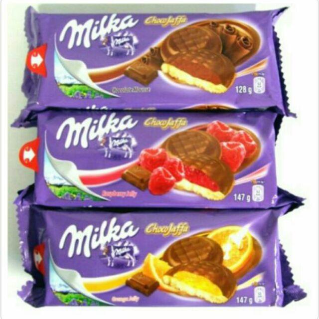 Milka Jaffa Cakes (raspberry/orange/choc mousse) 79p each or 2 for £1.50 @ Home Bargains