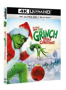 Dr Seuss How the Grinch Stole Christmas 4K Ultra HD + Blu-Ray £12.75 Delivered @ Amazon Italy.