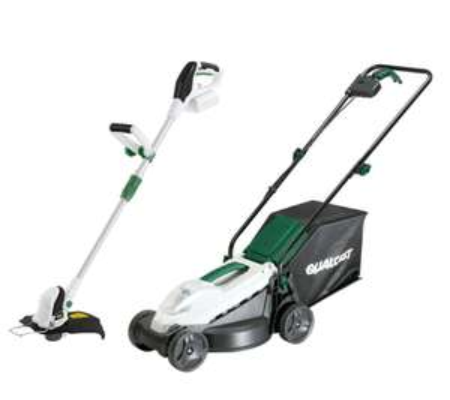 Qualcast 20V Cordless Brushless Lawn Mower & Grass Trimmer Kit includes battery & charger £99 @ Homebase