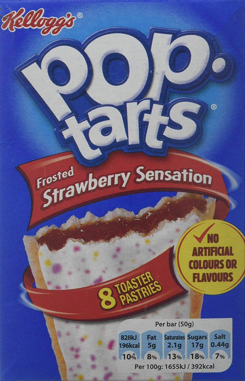 Kellogg's Strawberry Sensation Pop-Tarts, 400 g, Pack of 12 @ Amazon £14.87 Prime £19.36 Non Prime