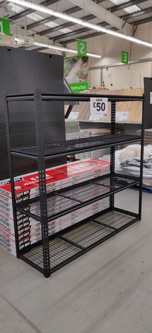 Extra large  4 Tier Heavy Duty Shelving Unit - £75 instore @ Homebase