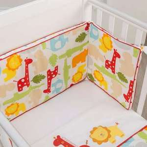 Kiddicare Scrapbook Safari Cot and Cotbed Quilt Bumper Blanket and Fitted Sheet Set £14.99 @ Dunelm