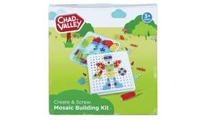 Chad Valley PlaySmart Create & Screw Mosaic Building Kit now £5.99 free collection at Argos