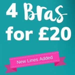 4 Bras for £20 delivered Ultimo and other top brands @ Lingerie Outlet