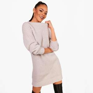 Soft Knit Jumper Dress £4 +£3.99 delivery @ Boohoo