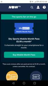 Watch Women's World Cup / Cricket Matches on the go for £5.99 @ Now TV (Monthly Sky Sports Subscription)