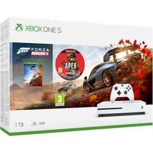 Xbox One S 1TB with Forza Horizon 4 + APEX Legends Founders Pack + Sea of Thieves & Overcooked Digital Downloads £189.99 @ Game