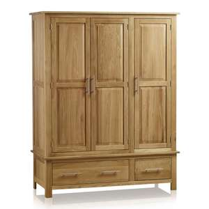 Oak furniture land deals!! 800 off! Triple wardrobes from £69.99 - misprice