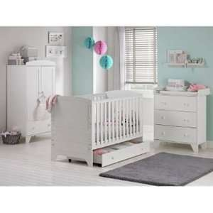 Cuggl Oxford 3 Piece Nursery Furniture Set in White was £356.94 now £306.94 Delivered @ Argos