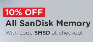 10% Off All SanDisk Memory @ MyMemory