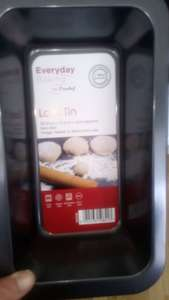 Everyday baking by Prochef Loaf Tin 25.9cm x 14.5cm x 6cm (approx) 75p Co op clearance