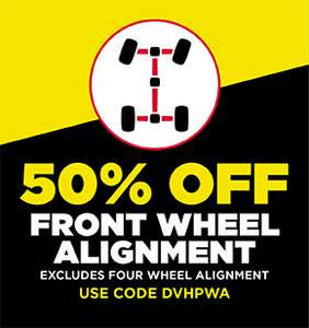 50% Off Front Wheel Aligment @ National Tyres