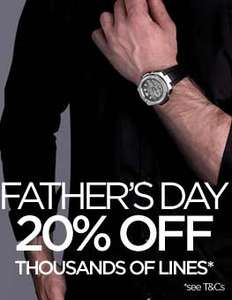 20% Off Selected Watches @ Watch Shop