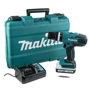 Makita HP457DW G-Series 18v Combi Drill inc 1.5Ah Battery £59.99 @ Powertool World