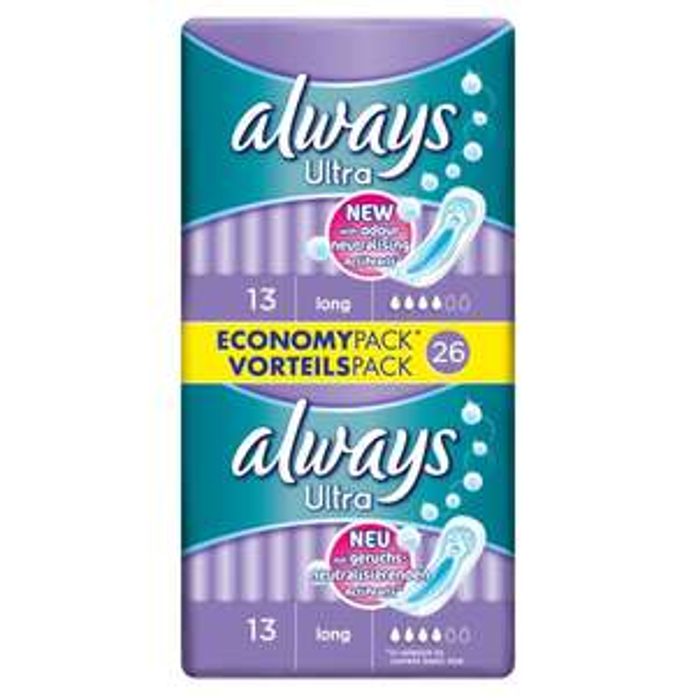 Always Ultra Normal Plus Long Sanitary Towels 26 pack for 50p @ Wilko