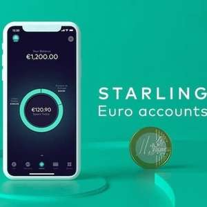 Starling Bank Euro Account now available to ALL Starling current account customers - hold, send and receive Euros for free