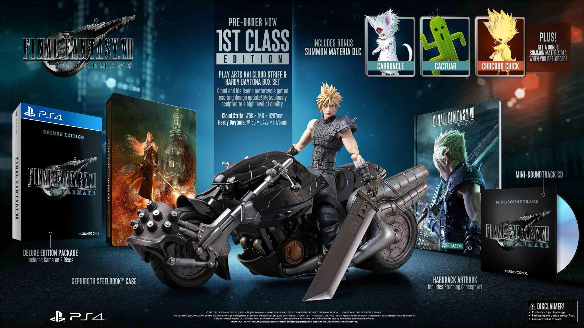 Final Fantasy VII Remake 1st class edition PS4 £259.99 SQUARE ENIX
