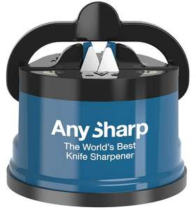 AnySharp Knife Sharpener with PowerGrip, Blue + 2 Year Warranty - £8 (Prime) // £12.49 (non prime) @ Amazon