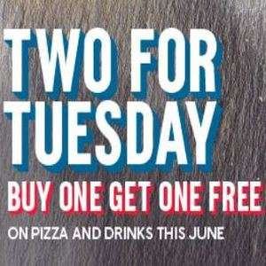Two for Tuesday - Buy one get one free - Includes pizza and drinks @ Dominos