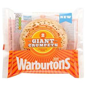Warburtons Giant Crumpets 2 Pack 50p @ Tesco