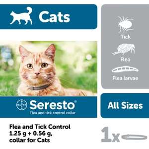 Kills fleas and ticks, Collar for cats by Seresto up to 8 month protection - £29.39 @ Pet Supermarket