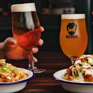 BrewDog beers & snacks for 2 at 44 UK locations (One person £8 / Two people £16) at Travelzoo