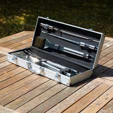 6 Piece Stainless Steel BBQ Tools Gift Set inc. Case - Free Click & Collect - £15 @ Menkind