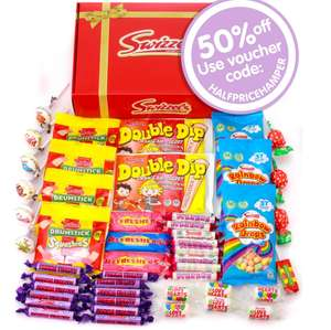 Retro Red Sweet Hamper 500g (was £7.99) now £3.99 with code + Free express delivery on £15 spend / £2.90 on smaller orders @ Swizzels