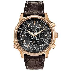 Citizen AT4113 Eco-Drive Rose Gold Tone Chronograph Radio Controlled Men's Watch £279 at Ernest Jones-with code