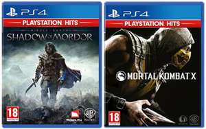Shadow of Mordor/Mortal Kombat X (PlayStation Hits) (PS4 ) for £8.85 Delivered @ Base
