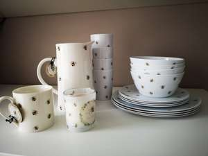 Botanical Discovery Homewares Bee Design Home Bargains from 99p