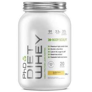 Free PhD 500g diet whey tube (With Code) @ PHD Nutrition) - £4 P&P Applies