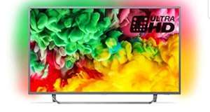 Philips Ambilight 50PUS6753/12 50-Inch 4K Ultra HD Smart TV with HDR Plus, Freeview Play and 3-sided - Dark Silver £379 @ Amazon
