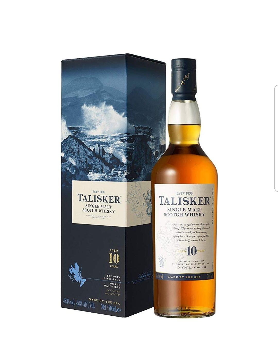 Talisker 10 Years Old Single Malt Scotch Whisky, 70cl £28 Amazon