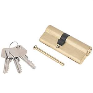 Smith & Locke 5-Pin Euro Double Cylinder Lock 35-45 (80mm) Nickel / Brass for 99p @ Screwfix (Free C&C)