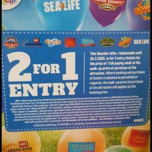 Rainy fathers day ideas, 2 for 1 Entry to Merlin Attractions Vouchers on Mcdonalds Happy Meals