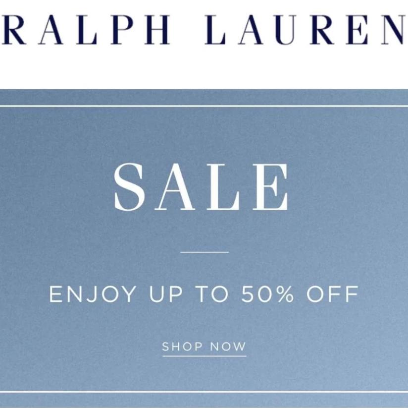 Ralph Lauren Sale: Enjoy up to 50% off