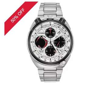 Citizen Men's Eco-Drive Tsuno Chronograph Bracelet Wath half price +10% off in email - £314 at H Samuel