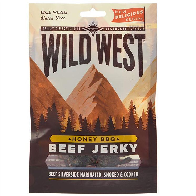 Wild West honey bbq beef jerky 70g bag - 50p instore @ Asda