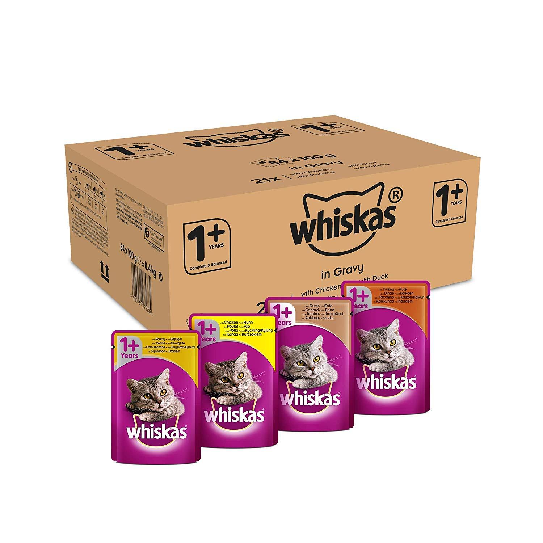 Whiskas Cat Food Pouches Mixed Selection 100g x 84 Voucher + S&S (+ limited code SNS40 £6.33 Prime) / £13.57 Prime / £18.06 non-Prime