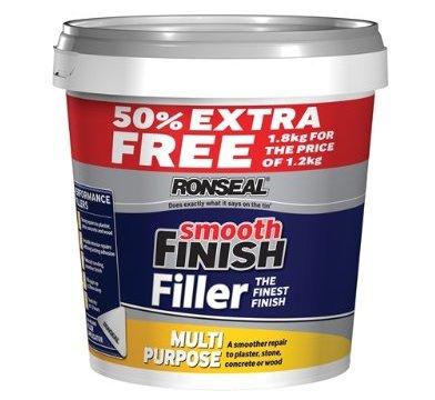 HUGE Ronseal Smooth Finish Filler Multi-Purpose 1.8kg (Polyfilla £5.73 for 1kg) @ Amazon - £5.89 Prime / £10.38 non-Prime