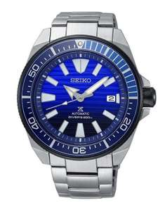 Seiko Prospex Samuri SRPC93K1 Save The Ocean Automatic Blue Dial Stainless Steel Bracelet Divers Mens Watch £337 VERY